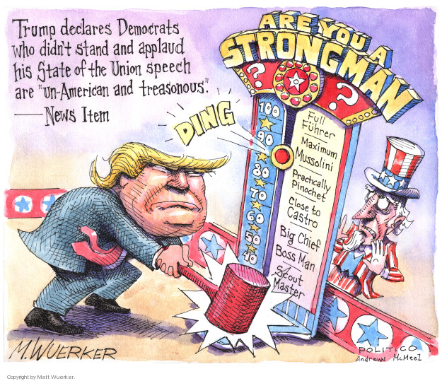 Cartoonist Matt Wuerker  Matt Wuerker's Editorial Cartoons 2018-02-07 president