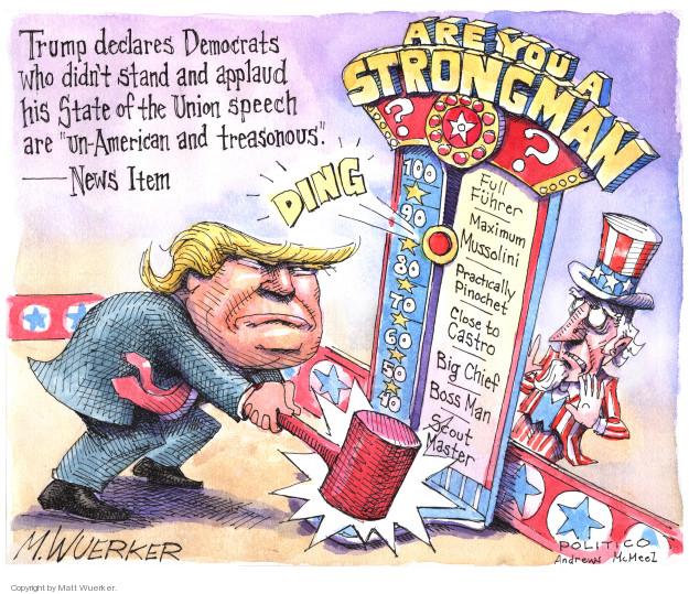 Cartoonist Matt Wuerker  Matt Wuerker's Editorial Cartoons 2018-02-07 freedom
