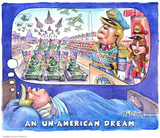 Cartoonist Matt Wuerker  Matt Wuerker's Editorial Cartoons 2018-02-08 president