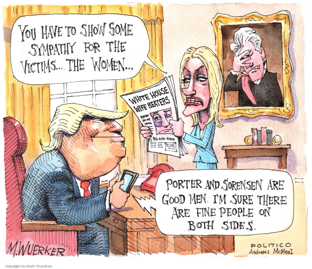 Matt Wuerker  Matt Wuerker's Editorial Cartoons 2018-02-13 woman