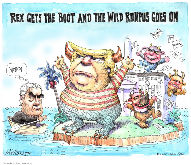 Cartoonist Matt Wuerker  Matt Wuerker's Editorial Cartoons 2018-03-14 president