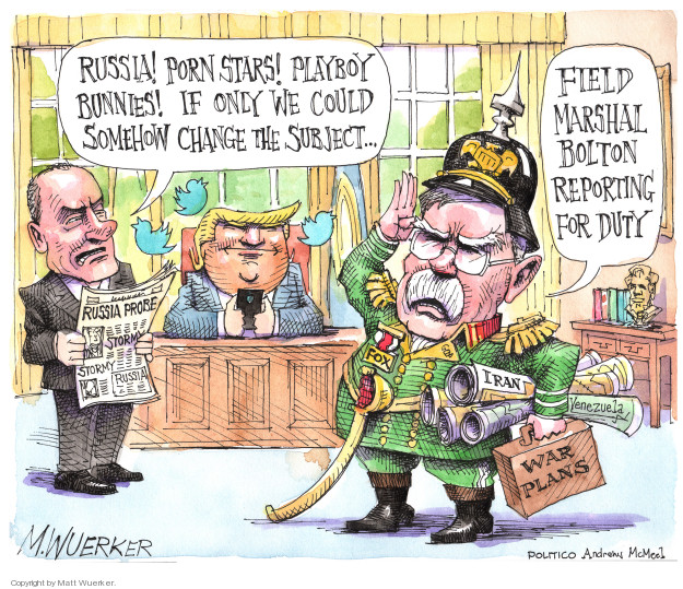 Cartoonist Matt Wuerker  Matt Wuerker's Editorial Cartoons 2018-03-27 former president