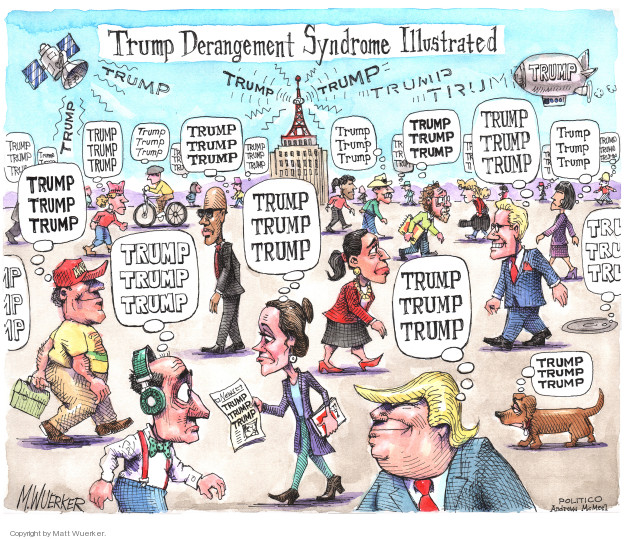 Cartoonist Matt Wuerker  Matt Wuerker's Editorial Cartoons 2018-04-03 Donald Trump media