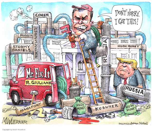 Cartoonist Matt Wuerker  Matt Wuerker's Editorial Cartoons 2018-05-04 former president