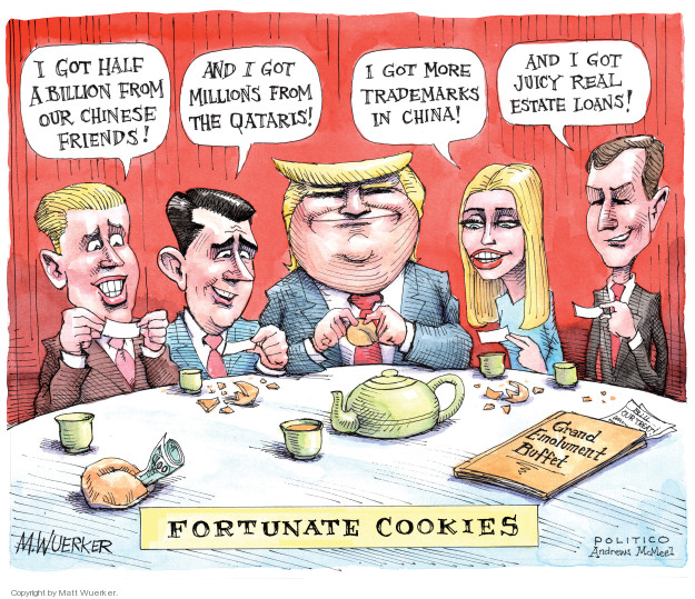 Cartoonist Matt Wuerker  Matt Wuerker's Editorial Cartoons 2018-05-17 fortune cookie