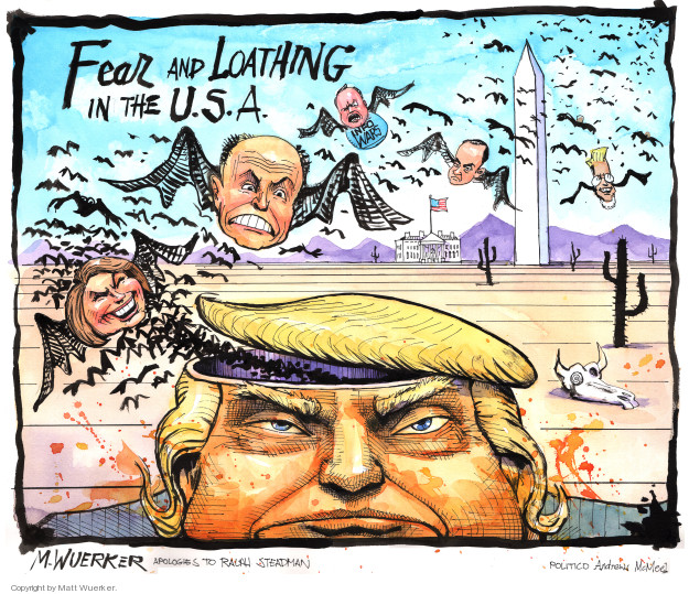 Cartoonist Matt Wuerker  Matt Wuerker's Editorial Cartoons 2018-06-01 former president