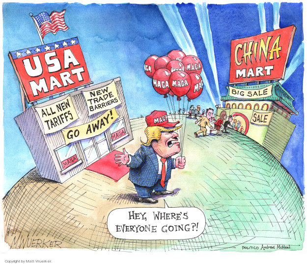 Matt Wuerker  Matt Wuerker's Editorial Cartoons 2018-06-27 tariff