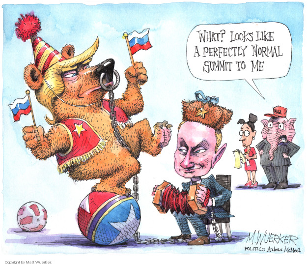 Cartoonist Matt Wuerker  Matt Wuerker's Editorial Cartoons 2018-07-16 diplomacy