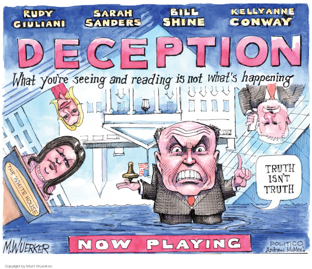 Matt Wuerker  Matt Wuerker's Editorial Cartoons 2018-08-22 deception