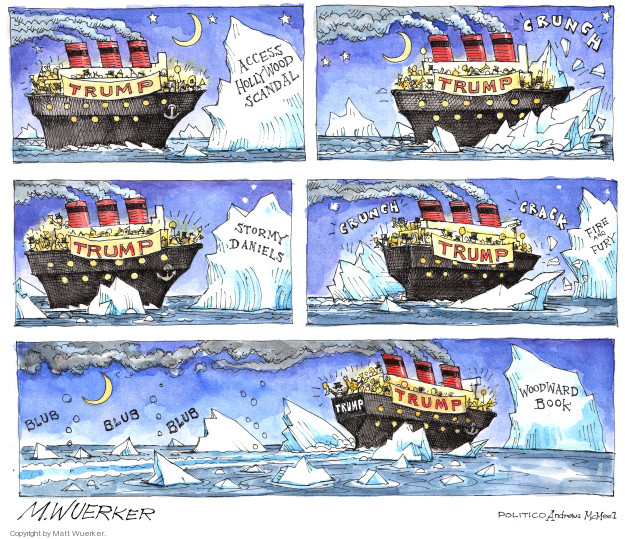 Cartoonist Matt Wuerker  Matt Wuerker's Editorial Cartoons 2018-09-11 fire