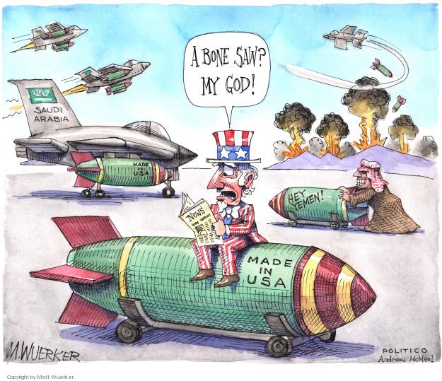 Cartoonist Matt Wuerker  Matt Wuerker's Editorial Cartoons 2018-10-18 Yemen
