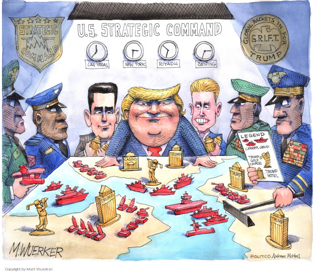 Cartoonist Matt Wuerker  Matt Wuerker's Editorial Cartoons 2018-10-24 international war