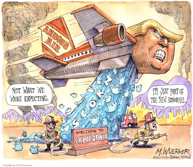 Cartoonist Matt Wuerker  Matt Wuerker's Editorial Cartoons 2018-11-16 forest fire