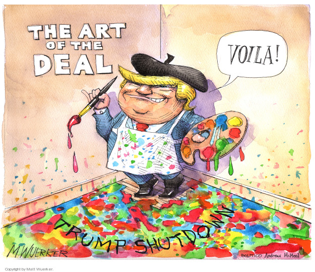 The Art of the Deal. Voila! Trump shutdown.