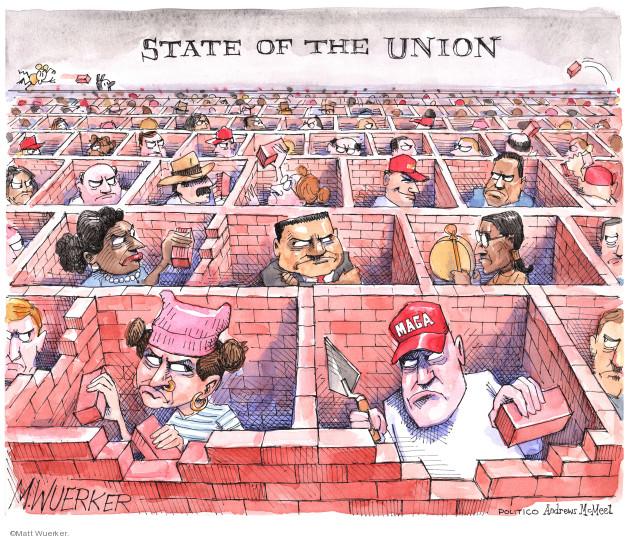 Matt Wuerker  Matt Wuerker's Editorial Cartoons 2019-02-01 speech