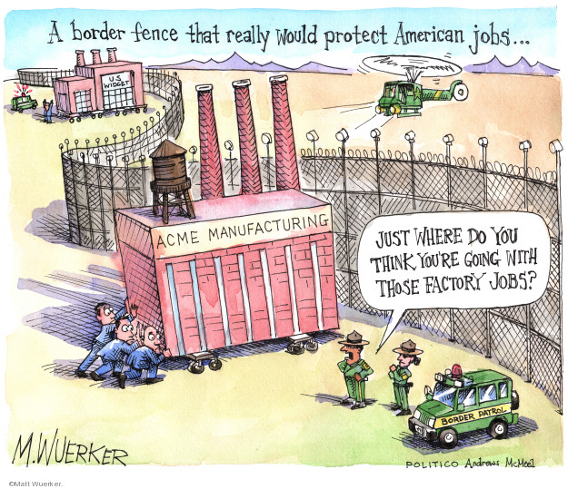 Matt Wuerker  Matt Wuerker's Editorial Cartoons 2019-02-08 immigration