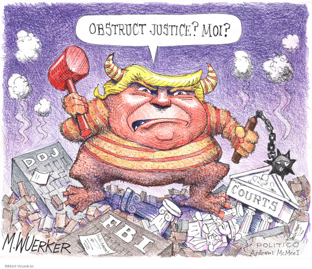 Cartoonist Matt Wuerker  Matt Wuerker's Editorial Cartoons 2019-02-21 Federal government