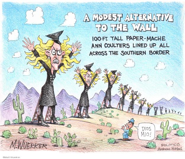 Matt Wuerker  Matt Wuerker's Editorial Cartoons 2019-02-22 border fence