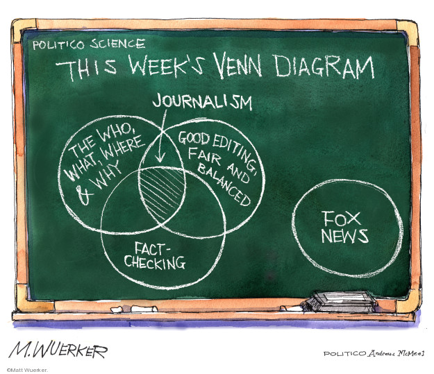 Cartoonist Matt Wuerker  Matt Wuerker's Editorial Cartoons 2019-03-06 television news