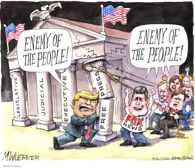 Cartoonist Matt Wuerker  Matt Wuerker's Editorial Cartoons 2019-04-01 executive