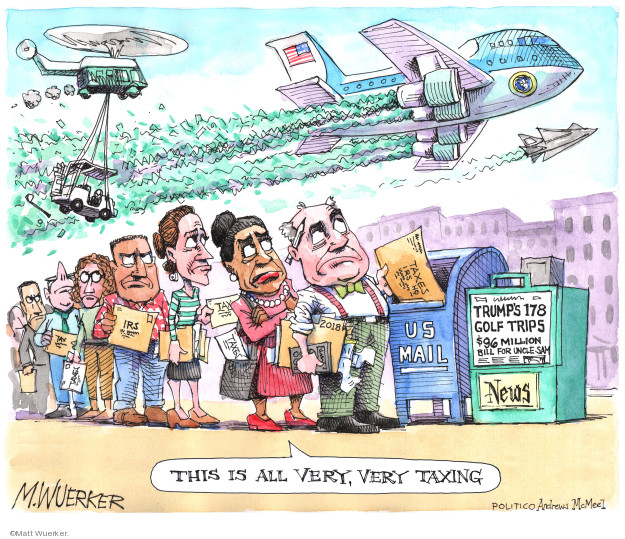 Cartoonist Matt Wuerker  Matt Wuerker's Editorial Cartoons 2019-04-10 expense