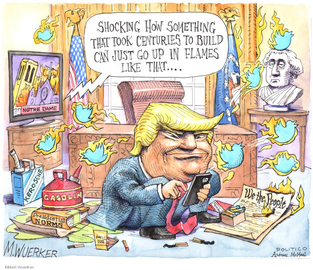 Matt Wuerker  Matt Wuerker's Editorial Cartoons 2019-04-18 Donald Trump Twitter