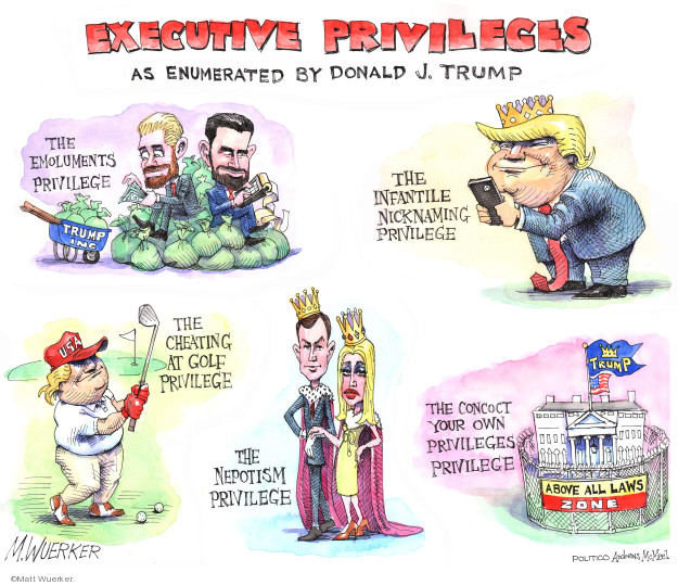 Cartoonist Matt Wuerker  Matt Wuerker's Editorial Cartoons 2019-05-15 executive