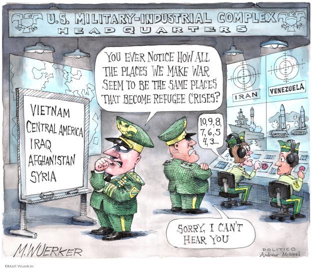 Matt Wuerker  Matt Wuerker's Editorial Cartoons 2019-07-02 war