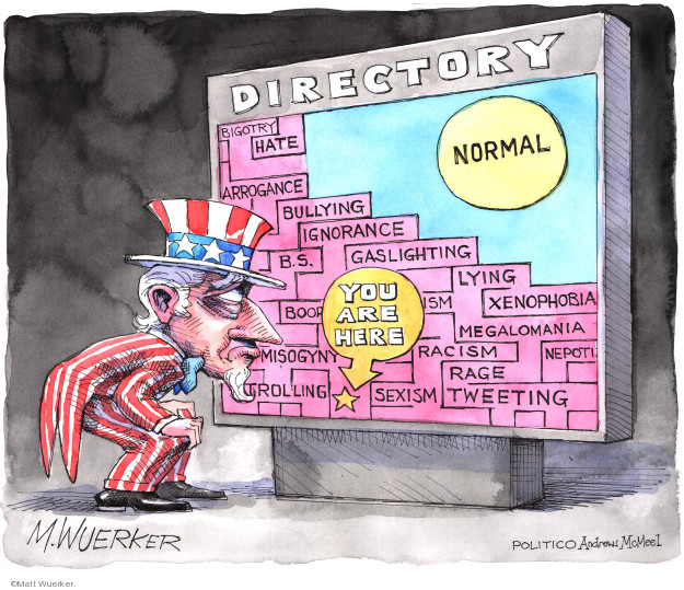 Cartoonist Matt Wuerker  Matt Wuerker's Editorial Cartoons 2019-07-15 Donald Trump media