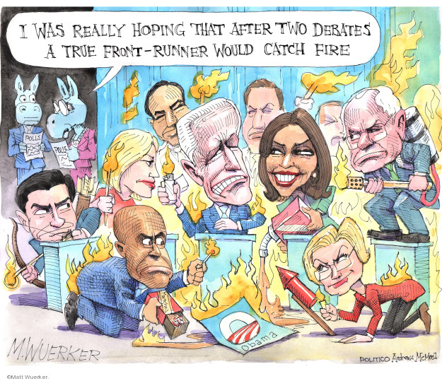 Cartoonist Matt Wuerker  Matt Wuerker's Editorial Cartoons 2019-08-02 democrat