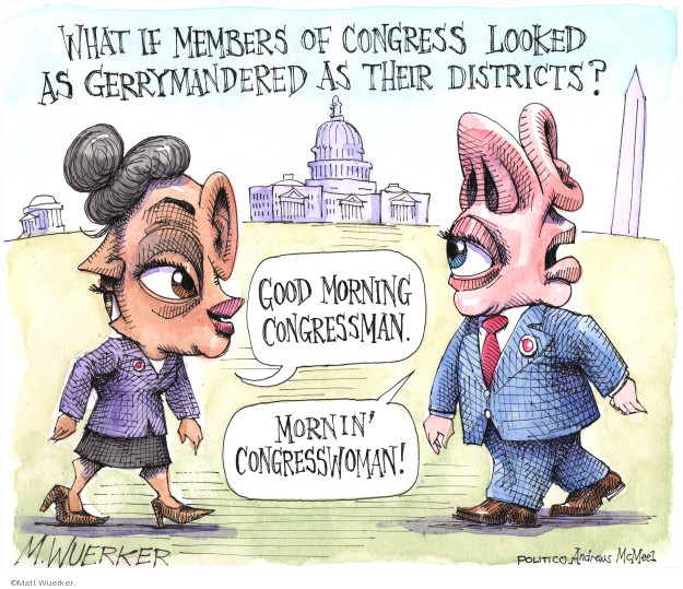 Cartoonist Matt Wuerker  Matt Wuerker's Editorial Cartoons 2019-10-08 congresswoman