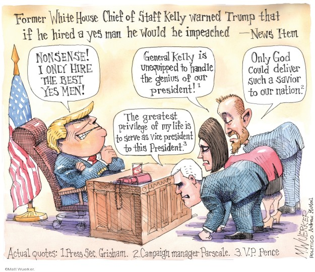 Cartoonist Matt Wuerker  Matt Wuerker's Editorial Cartoons 2019-10-29 former president