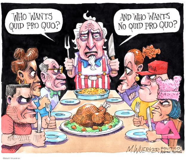 Matt Wuerker  Matt Wuerker's Editorial Cartoons 2019-11-26 Trump Family