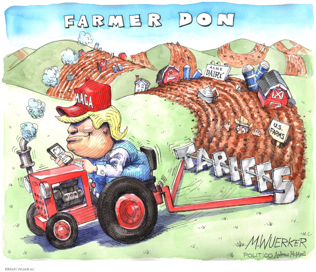 Matt Wuerker  Matt Wuerker's Editorial Cartoons 2019-12-04 Donald Trump tariff