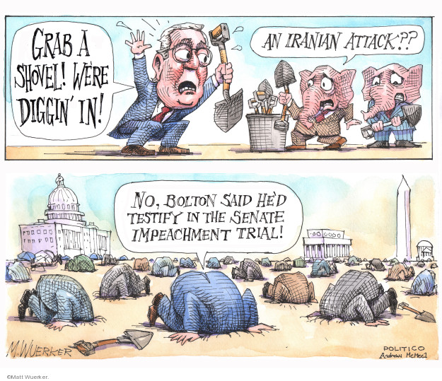 Cartoonist Matt Wuerker  Matt Wuerker's Editorial Cartoons 2020-01-09 GOP