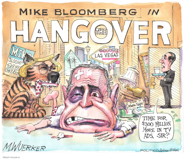 Cartoonist Matt Wuerker  Matt Wuerker's Editorial Cartoons 2020-02-20 2020 election