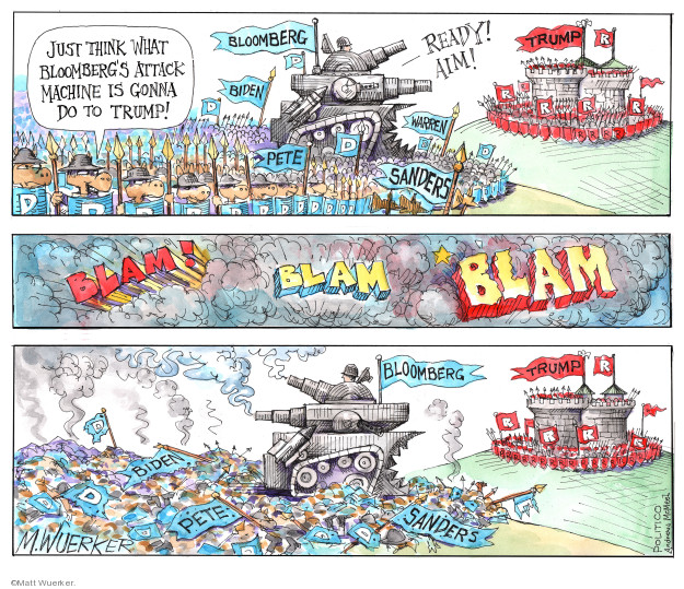 Cartoonist Matt Wuerker  Matt Wuerker's Editorial Cartoons 2020-02-25 2020 election