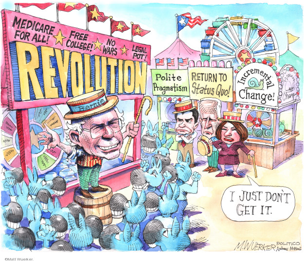 Cartoonist Matt Wuerker  Matt Wuerker's Editorial Cartoons 2020-02-27 democrat