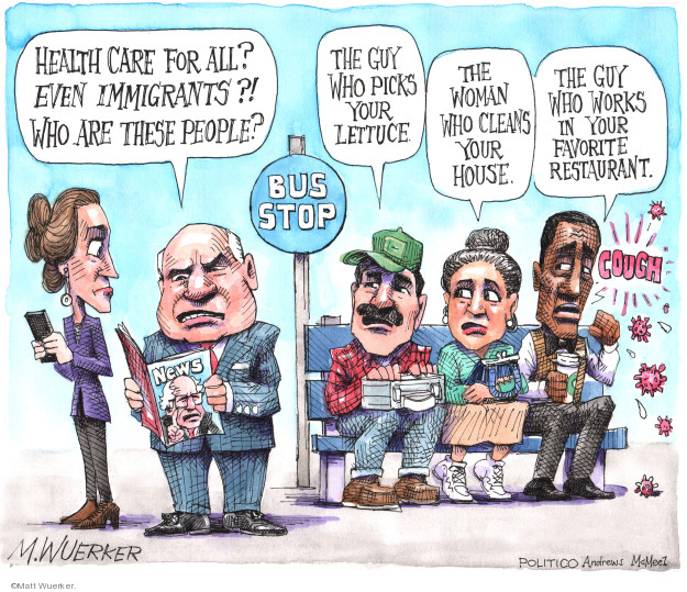 Cartoonist Matt Wuerker  Matt Wuerker's Editorial Cartoons 2020-03-03 campaign