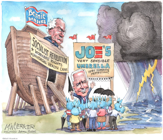 Cartoonist Matt Wuerker  Matt Wuerker's Editorial Cartoons 2020-03-19 democrat