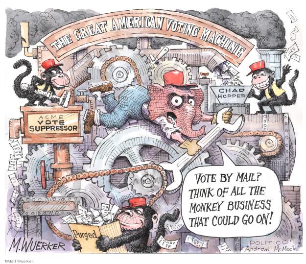 Cartoonist Matt Wuerker  Matt Wuerker's Editorial Cartoons 2020-04-09 business