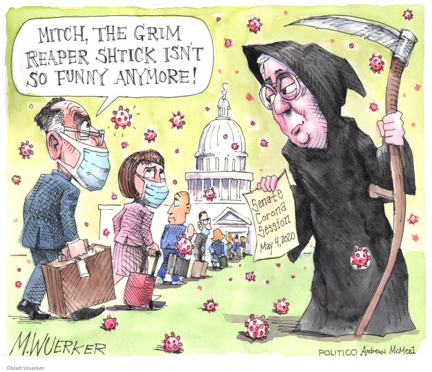 Cartoonist Matt Wuerker  Matt Wuerker's Editorial Cartoons 2020-05-05 GOP
