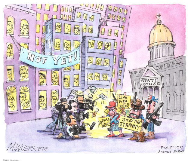 Cartoonist Matt Wuerker  Matt Wuerker's Editorial Cartoons 2020-05-06 social distancing