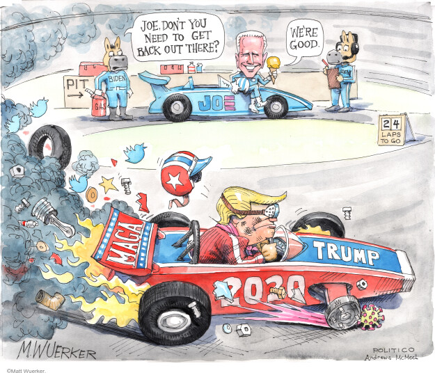 Cartoonist Matt Wuerker  Matt Wuerker's Editorial Cartoons 2020-05-14 GOP