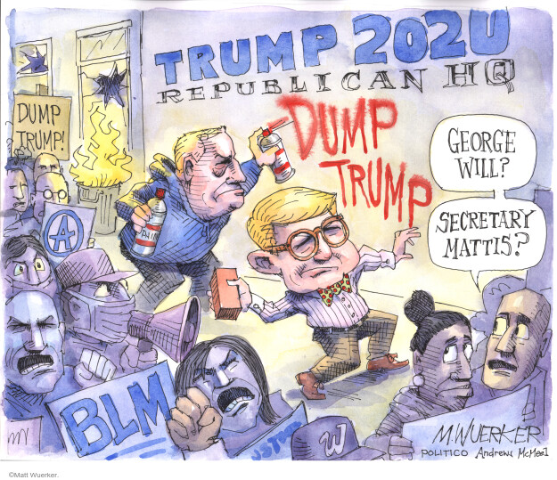 Matt Wuerker  Matt Wuerker's Editorial Cartoons 2020-06-04 presidential