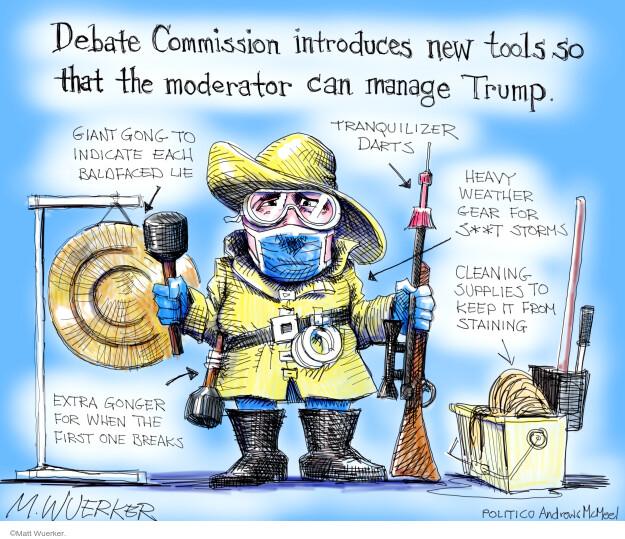 Matt Wuerker  Matt Wuerker's Editorial Cartoons 2020-10-01 2020 election Donald Trump