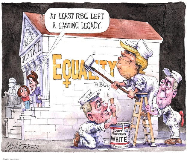 Matt Wuerker  Matt Wuerker's Editorial Cartoons 2020-10-19 supreme