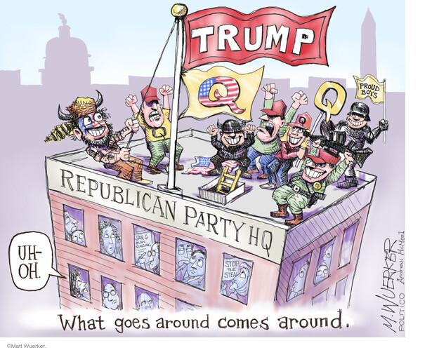 Matt Wuerker  Matt Wuerker's Editorial Cartoons 2021-02-03 conspiracy
