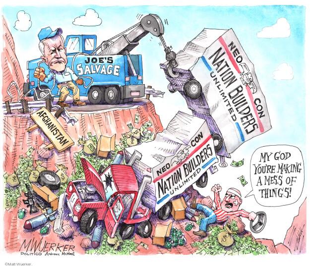 Matt Wuerker  Matt Wuerker's Editorial Cartoons 2021-08-19 war