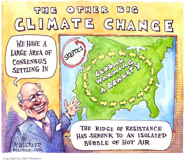 Cartoonist Matt Wuerker  Matt Wuerker's Editorial Cartoons 2007-04-19 climate change skepticism